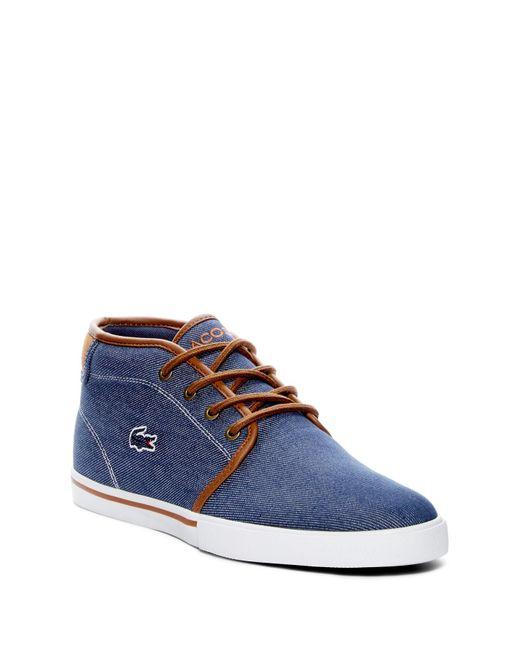 Lacoste   Blue Ampthill 317 Canvas Sneaker for Men   Lyst