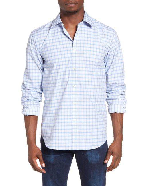 Jeremy Argyle Nyc | Blue Fitted Check Sport Shirt for Men | Lyst