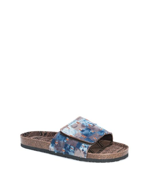 Muk Luks - Blue Jackson Slide Sandal for Men - Lyst