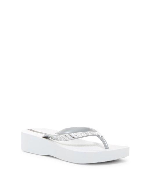 Ipanema - White Mesh Platform Flip Flop - Lyst
