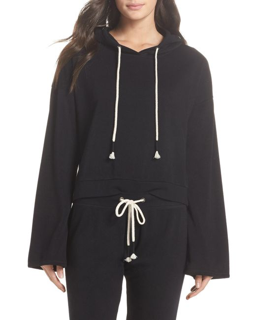 Make + Model - Black Cozy Up Cropped Ribbed Hoodie - Lyst