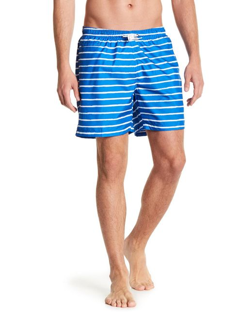 TRUNKS SURF AND SWIM CO - Blue San O Stripe Swim Trunks for Men - Lyst
