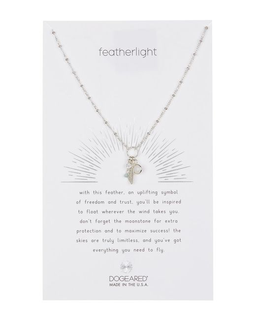 Dogeared - Metallic Sterling Silver Featherlight Cluster Charm Necklace - Lyst