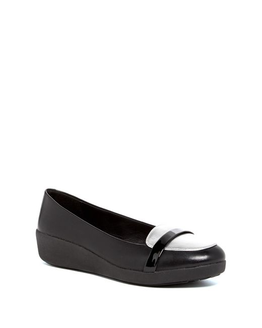 Fitflop | Black F-pop Loafer | Lyst