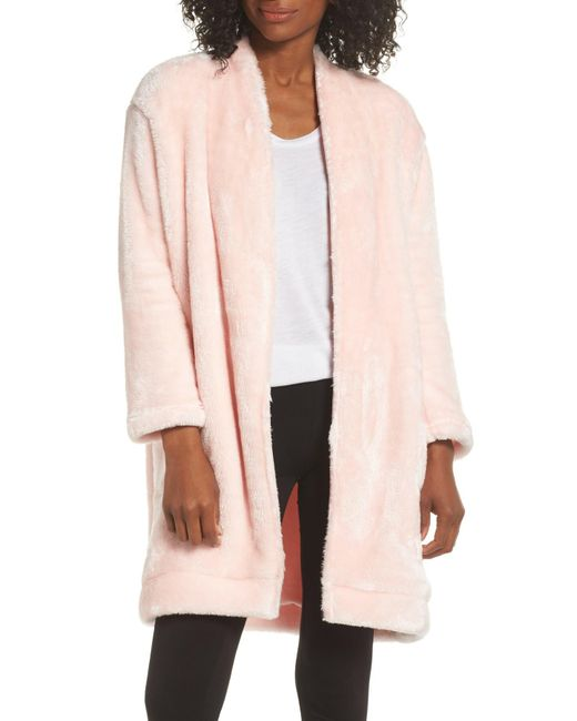Nordstrom - Pink So Soft Plush Cocoon Cardigan - Lyst