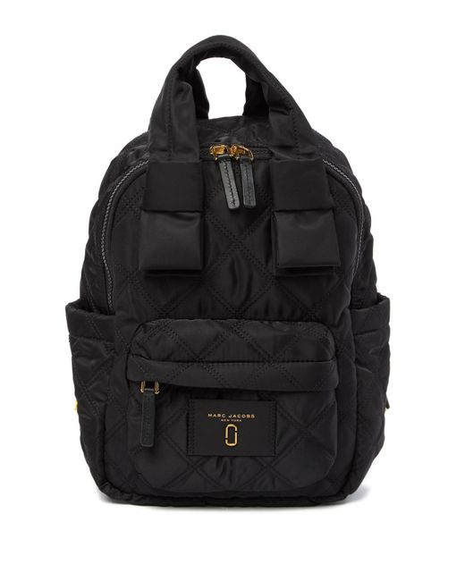 Marc Jacobs - Black Nylon Knot Quilted Backpack - Lyst