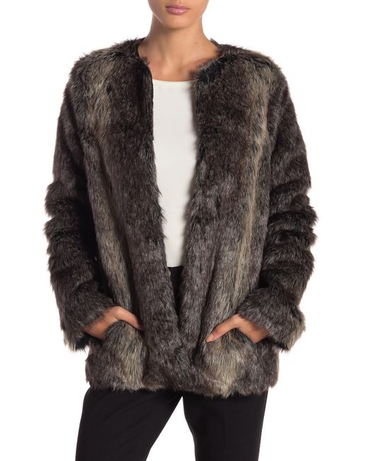 BB Dakota - Brown Caddy Faux Fur Coat - Lyst