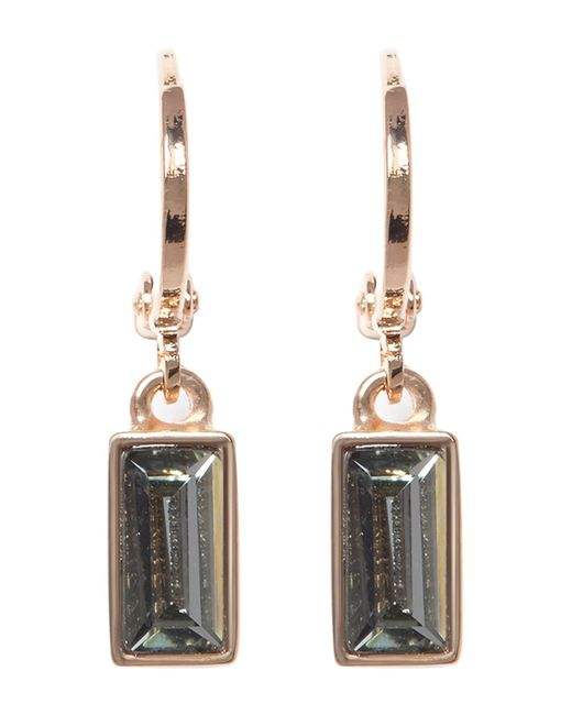 Vince Camuto | Metallic Huggie Hoop & Faceted Crystal Drop Earrings | Lyst