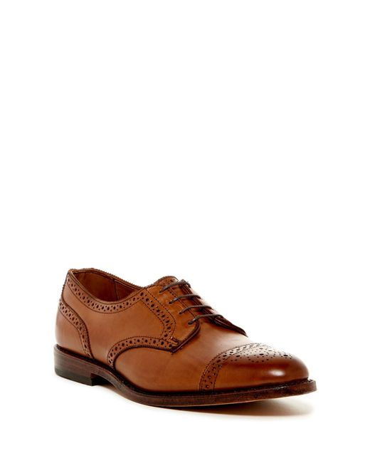Allen Edmonds | Brown 6th Avenue Semi Brogue Derby - Extra Wide Width Available for Men | Lyst