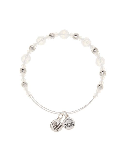 ALEX AND ANI | Metallic Cloud Crystal Beaded Extendable Wire Bangle | Lyst