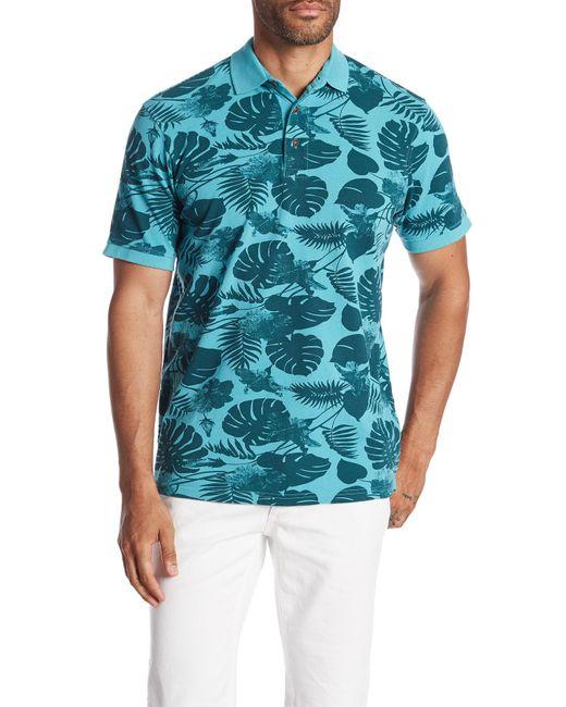 7 Diamonds - Blue Maxwell Tropical Print Polo for Men - Lyst