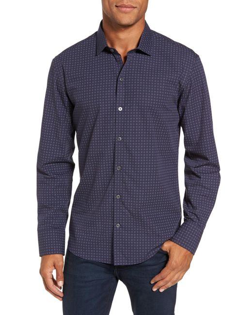 Zachary Prell - Blue Maison Print Slim Fit Sport Shirt for Men - Lyst
