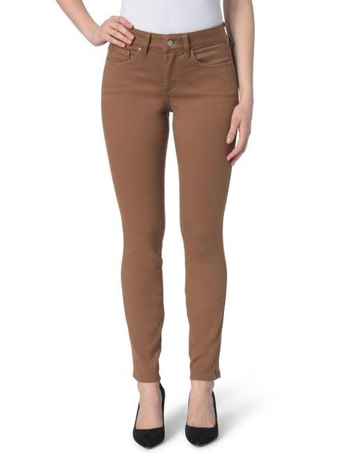 NYDJ - Brown Ami High Waist Colored Stretch Skinny Jeans (regular & Petite) - Lyst