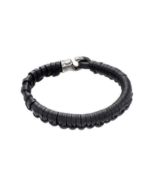 Uno De 50 | Black Hook Plaited Leather Bracelet for Men | Lyst