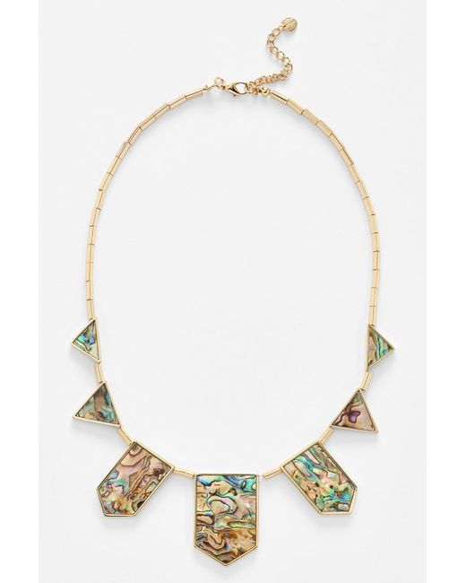 House of Harlow 1960   Metallic Abalone Station Necklace   Lyst