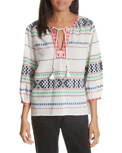 Joie - Multicolor Jenollina Embroidered Top - Lyst