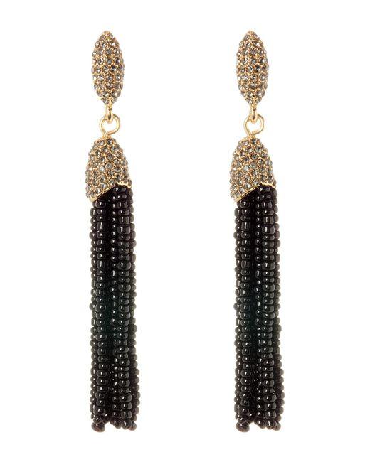 Vince Camuto - Metallic Seed Bead Tassel Earrings - Lyst