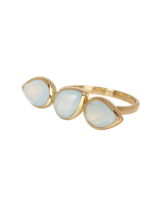 Argento Vivo - Metallic 18k Gold Plated Faceted Triple Teardrop Stone Ring - Size 7 - Lyst