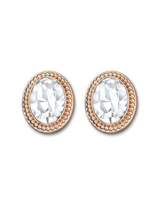 Swarovski | Metallic Arrive Crystal Button Earrings | Lyst