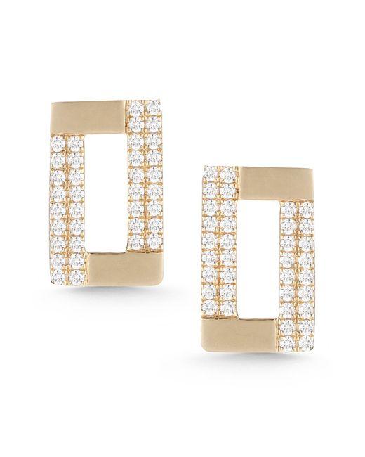 Dana Rebecca - Metallic 14k Yellow Gold Jeanie Ann Diamond Stud Earrings - 0.35 Ctw - Lyst