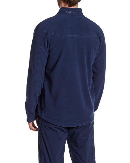 helly hansen velocity fleece jacket in blue for men lyst. Black Bedroom Furniture Sets. Home Design Ideas