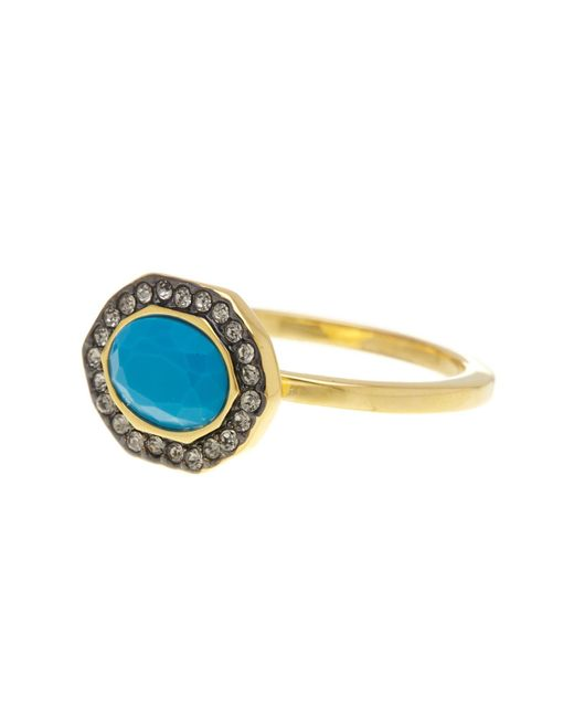 Ariella Collection | Multicolor Simple Halo Ring | Lyst