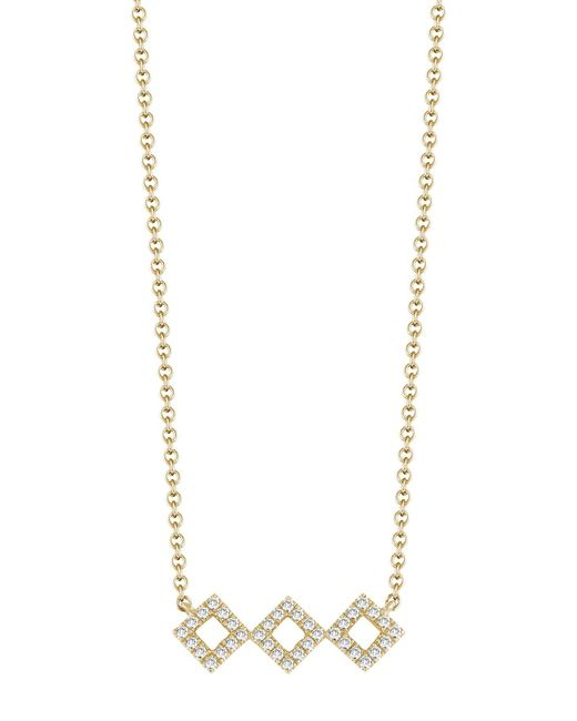 Dana Rebecca - Metallic 14k Yellow Gold Diamond Accented Lisa Michelle Necklace - 0.13 Ctw - Lyst