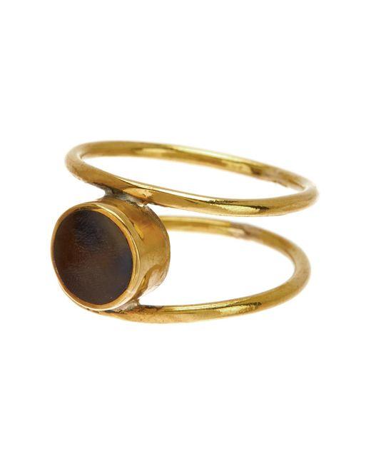 Soko - Metallic Aya Horn Ring - Size 6 - Lyst