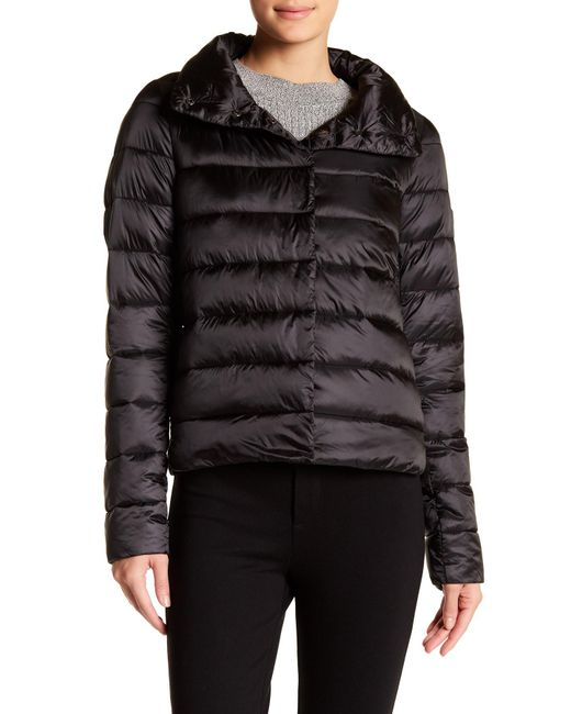 Save The Duck | Black Iridescent Quilted Coat | Lyst