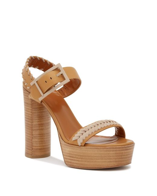 Aquatalia - Brown Isabella Platform Wedge Sandal - Lyst
