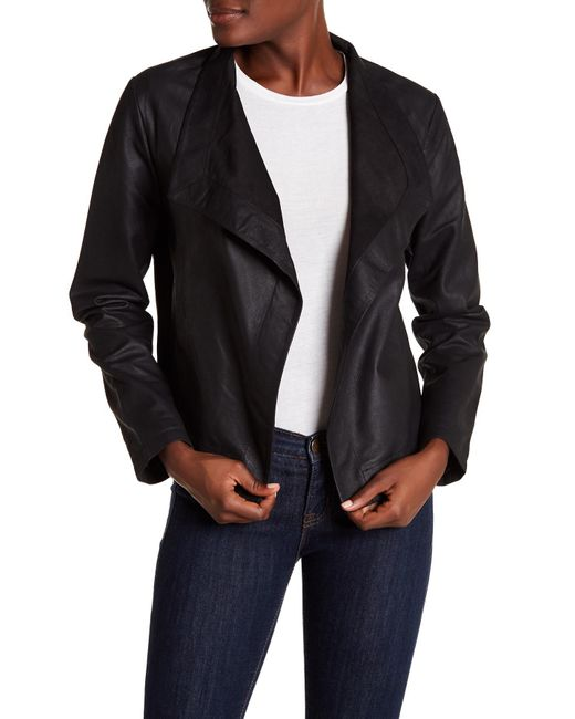 BB Dakota - Black Emerson Leather Combo Jacket - Lyst