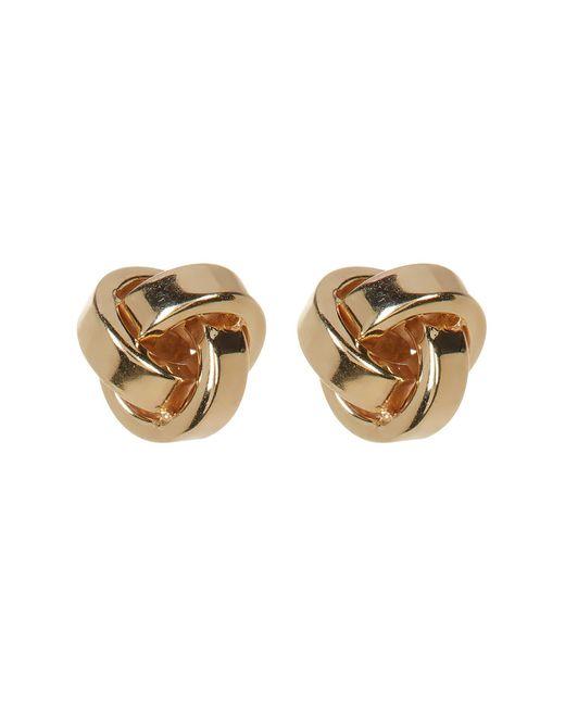 KARAT RUSH | 10k Yellow Gold Love Knot Earrings | Lyst