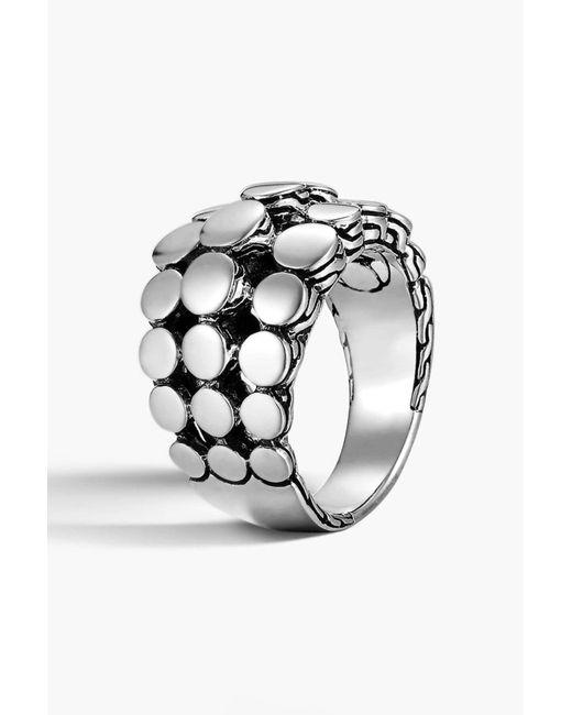 John Hardy - Metallic Dot Dome Ring - Size 7 - Lyst