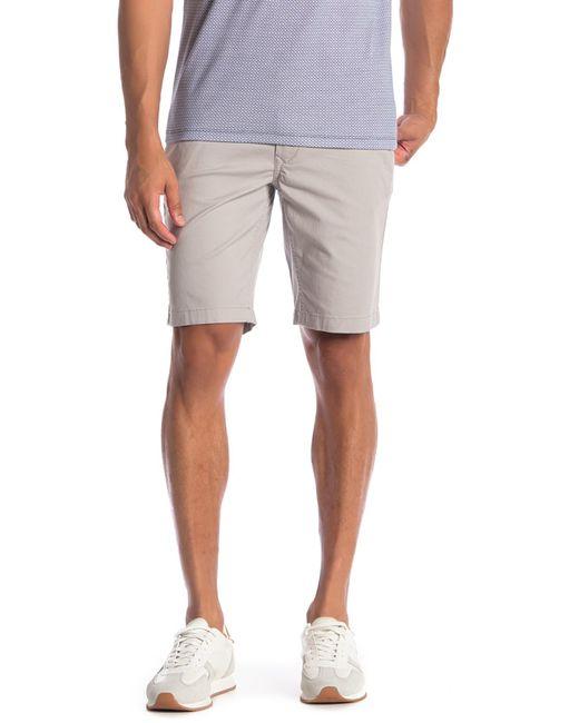 Tailor Vintage - Gray Modern Slim Stretch Fit Twill Walk Shorts for Men - Lyst