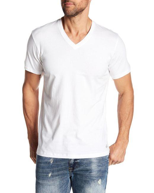 Calvin Klein | White V-neck Tee - Pack Of 3 for Men | Lyst