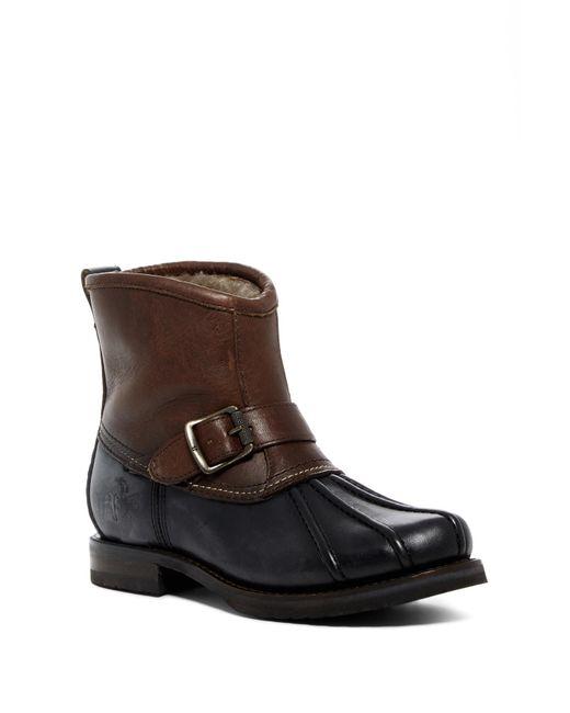 Frye - Brown Veronica Genuine Shearling Duck Engineer Boot - Lyst