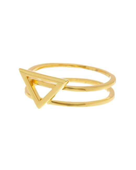 Gorjana | Metallic Anya Triangle Ring - Size 8 | Lyst