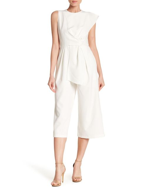 Haute Rogue - White Asymmetrical Cropped Jumpsuit - Lyst
