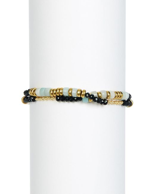 Shashi | Blue Farrah Wrap Bead Bracelet | Lyst