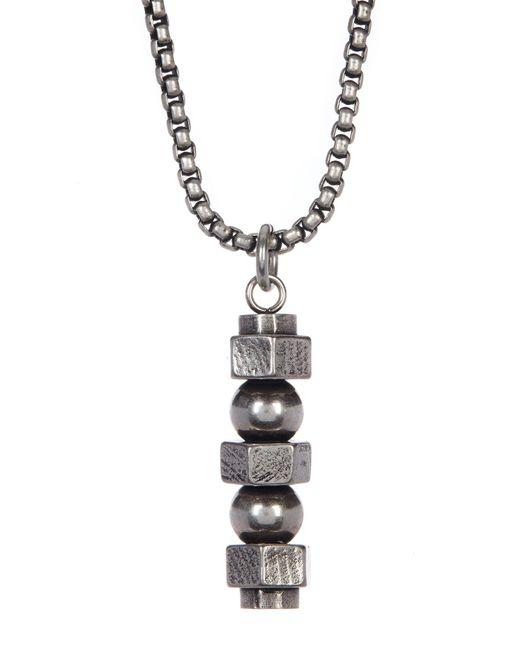 Steve Madden | Metallic Chain Screw Pendant Necklace | Lyst