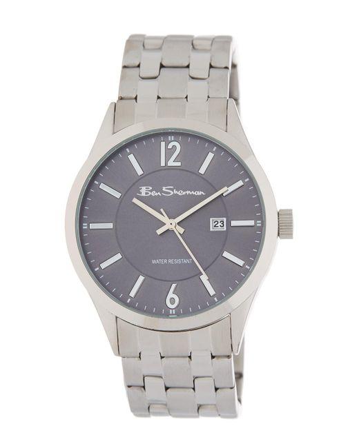Ben Sherman - Metallic Stainless Steel Watch, 40mm for Men - Lyst