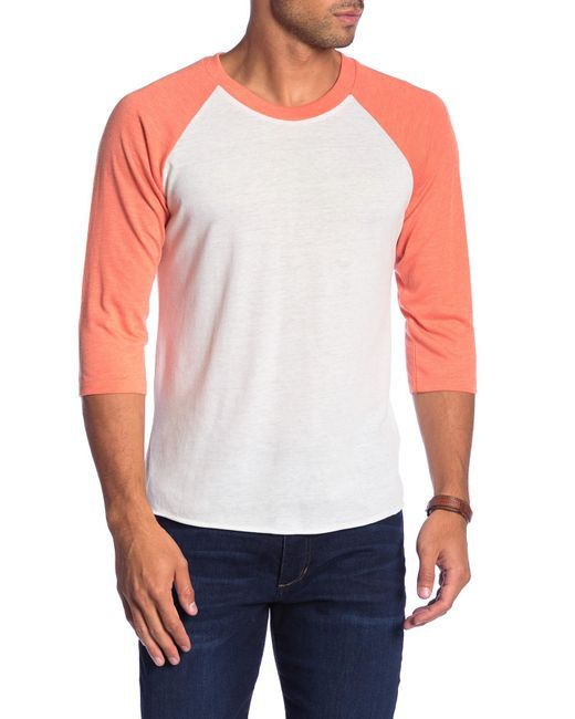 Alternative Apparel - Orange Raglan Sleeve Baseball Tee for Men - Lyst