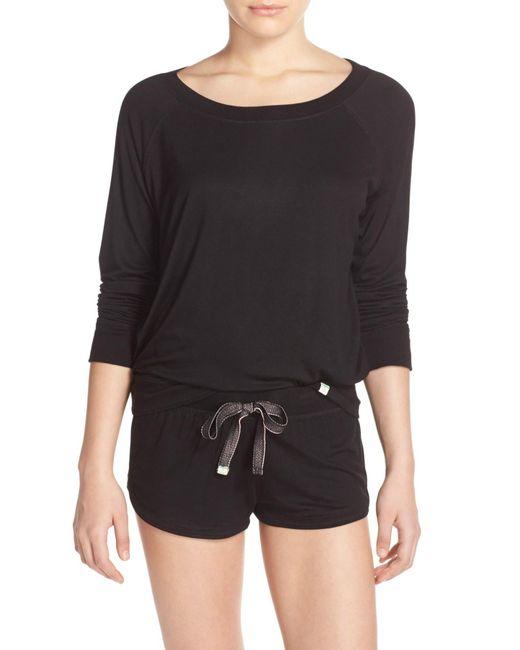 Honeydew Intimates | Black Jet Set Raglan Sweatshirt | Lyst