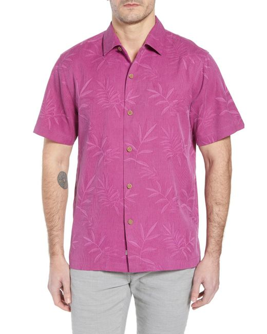 Tommy Bahama - Pink Luau Floral Silk Shirt for Men - Lyst