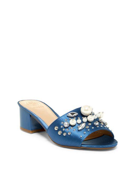 Guess - Blue Dancerr Embellished Mule - Lyst