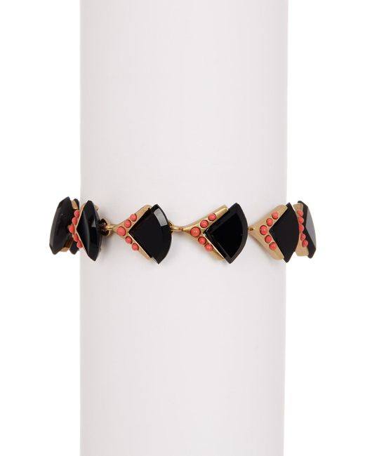Loren Hope | Multicolor Geometric Studded Stone Bracelet | Lyst