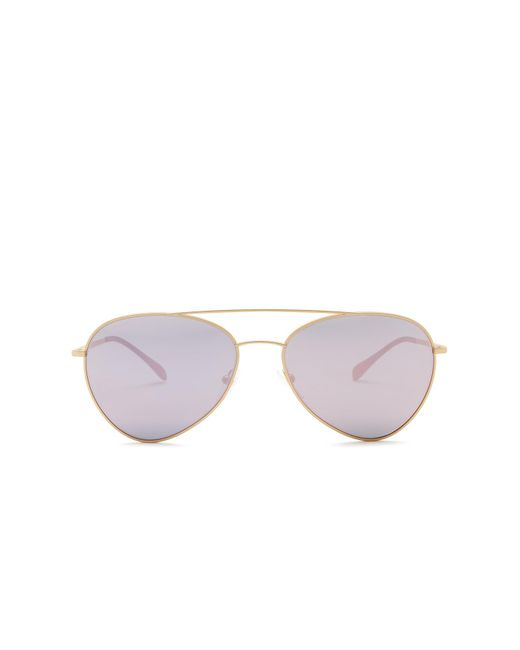 b9715b9cfd8fd ... closeout prada metallic 60mm phantos aviator sunglasses lyst f4aed 04425
