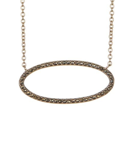 Judith Jack | Metallic Gold-tone Marcastie Detail Oval Pendant Necklace | Lyst