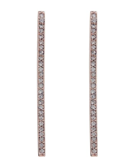 Paige Novick | Metallic Veronica V-shape Pave Vertical Bar Earrings | Lyst