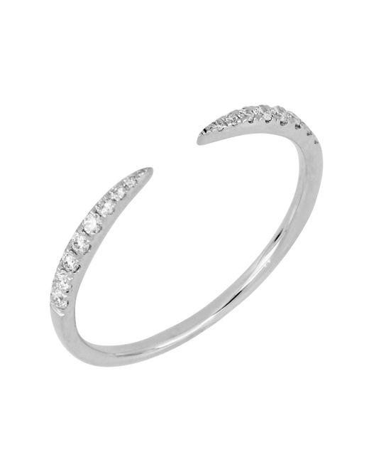 Bony Levy - Metallic 18k White Gold Diamond Cuff Ring - 0.13 Ctw - Lyst